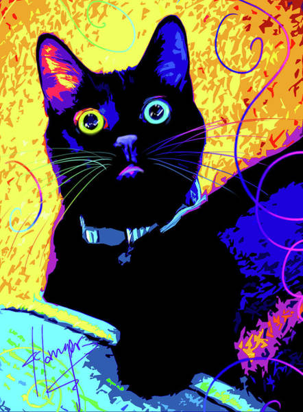 Painting - pOpCat Olive by DC Langer