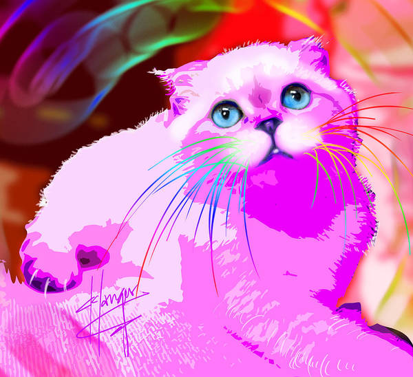 Painting - pOpCat Olivia by DC Langer