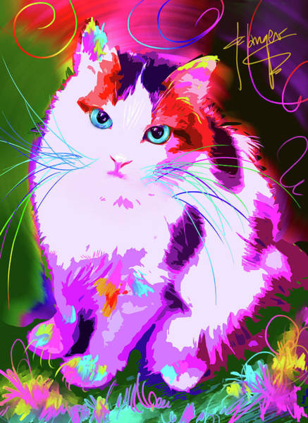 Painting - pOpCat Rainbow by DC Langer