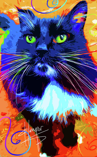 Painting - pOpCat Roo by DC Langer