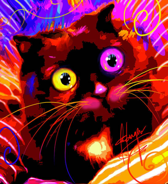 Painting - pOpCat Sam by DC Langer
