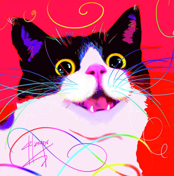 Painting - pOpCat Sir Prize by DC Langer