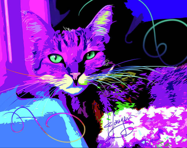 Painting - pOpCat Sophie by DC Langer