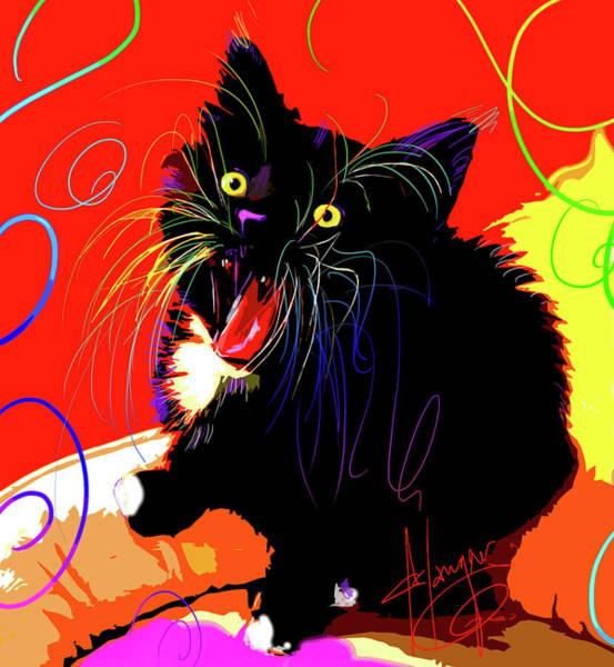 Painting - pOpCat Suki by DC Langer