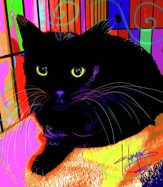 Painting - pOpCat Sweet Baby Raven by DC Langer