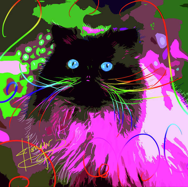 Painting - pOpCat Tom by DC Langer