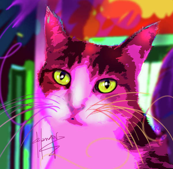 Painting - pOpCat Wendy by DC Langer