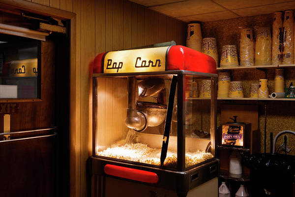 Small Town Photograph - Popcorn Maker At Drive-in Theatre by Simon Willms