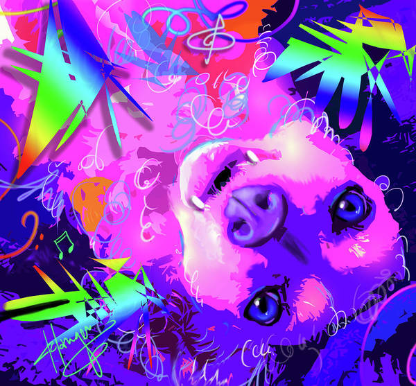 Painting - pOpDog Rosa TooLittle Russell by DC Langer