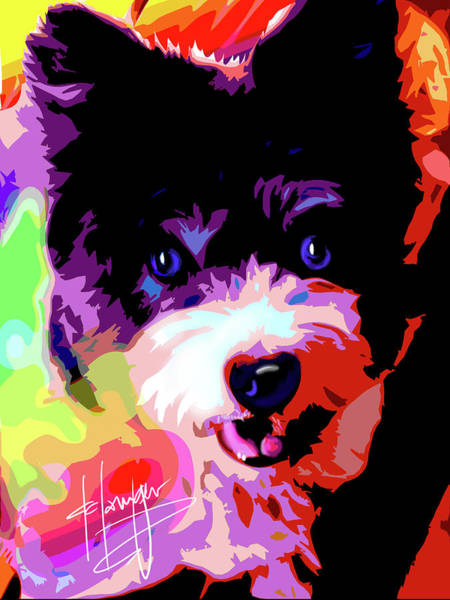 Painting - pOpDog Roxy by DC Langer