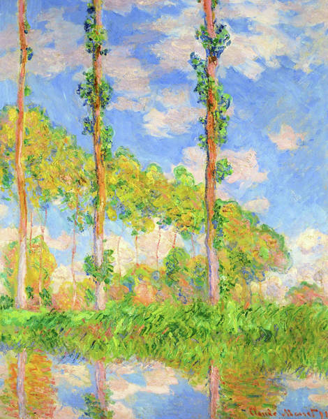 Poplar Painting - Poplars In The Sun - Digital Remastered Edition by Claude Monet