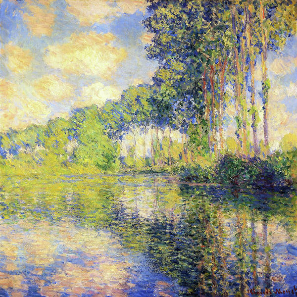 Poplar Painting - Poplars On The Epte - Digital Remastered Edition by Claude Monet