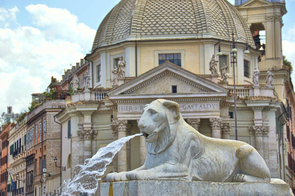 Photograph - Popolo Fountain Lion  by JAMART Photography