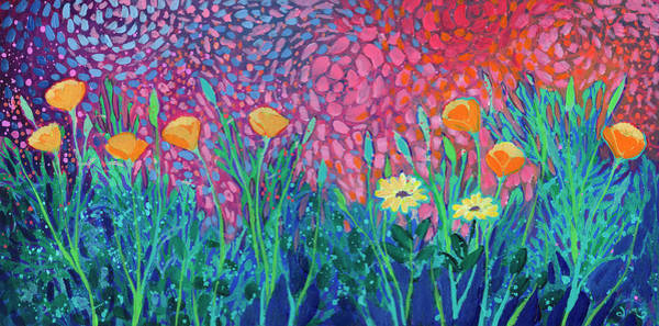 Wall Art - Painting - Poppies At Twilight by Jennifer Lommers