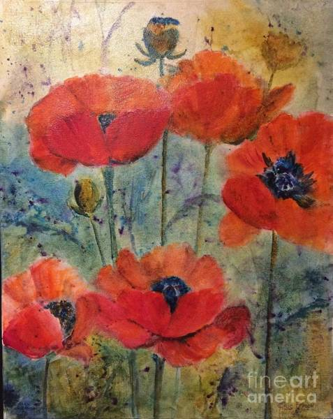 Wall Art - Painting - Poppies by Eric Fetsch