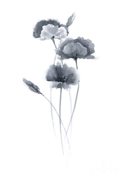 Wall Art - Painting - Poppies Flowers Wall Decor Watercolor Poster by Joanna Szmerdt