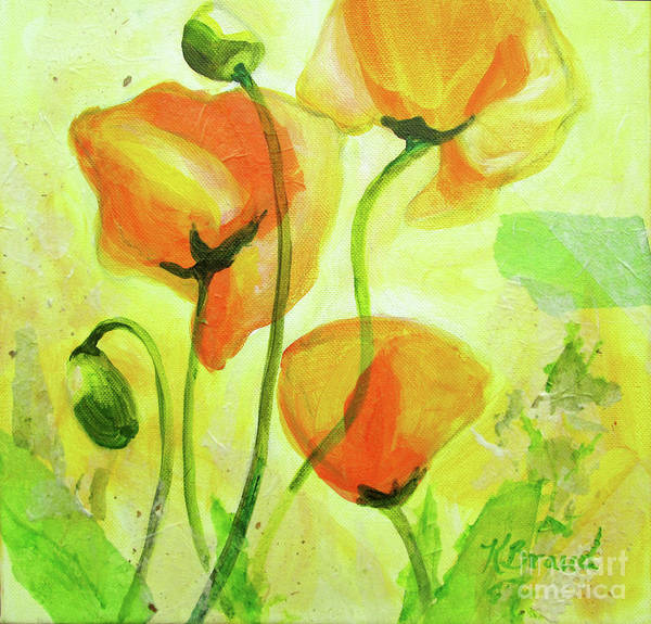 Wall Art - Painting - Poppies For Abundance by Kathy Braud
