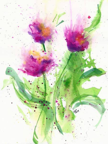 Genie Painting - Poppies by Genie Lee Perron