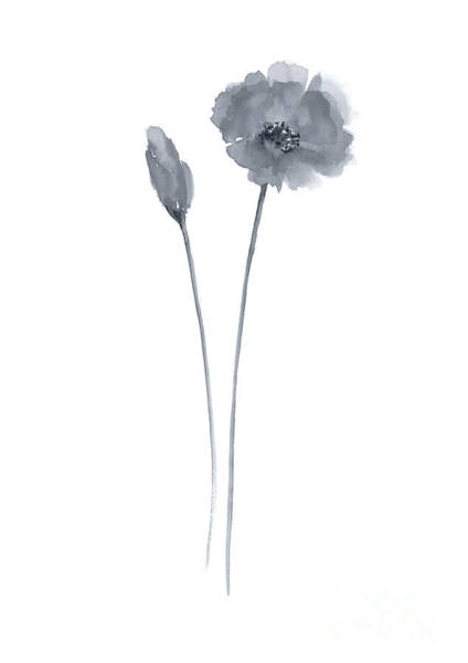 Wall Art - Painting - Poppies Home Decor Watercolor Flower Poster by Joanna Szmerdt