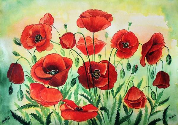 Wall Art - Painting - Poppies by Igor Nevzgliad
