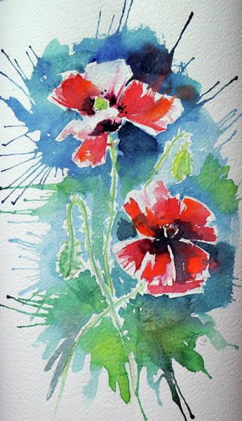 Wall Art - Painting - Poppies IIi New by Kovacs Anna Brigitta