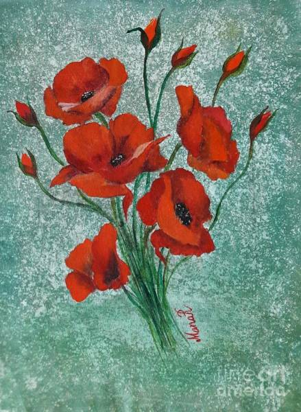 Painting - Poppies by Manar Hawsawi