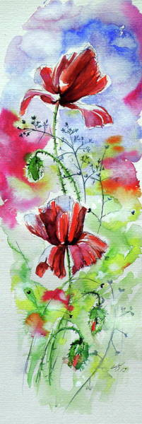 Wall Art - Painting - Poppies Of Summer Iv by Kovacs Anna Brigitta