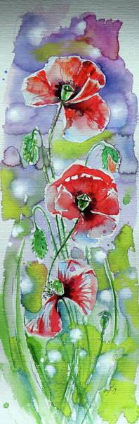 Wall Art - Painting - Poppies Of Summer V by Kovacs Anna Brigitta