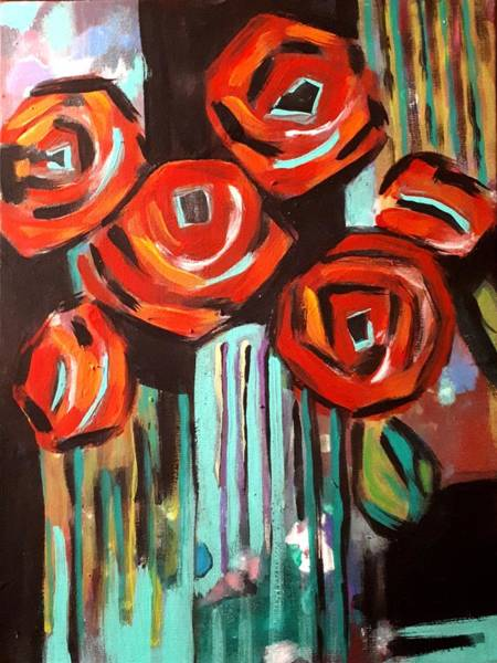 Painting - Poppy Abstract by Nikki Dalton