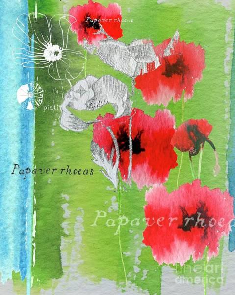 Wild Life Mixed Media - Poppy by Anna Platts