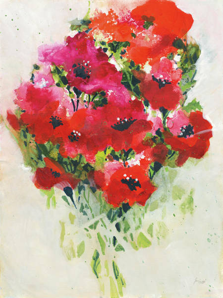 Wall Art - Painting - Poppy Bouquet by Jan Griggs