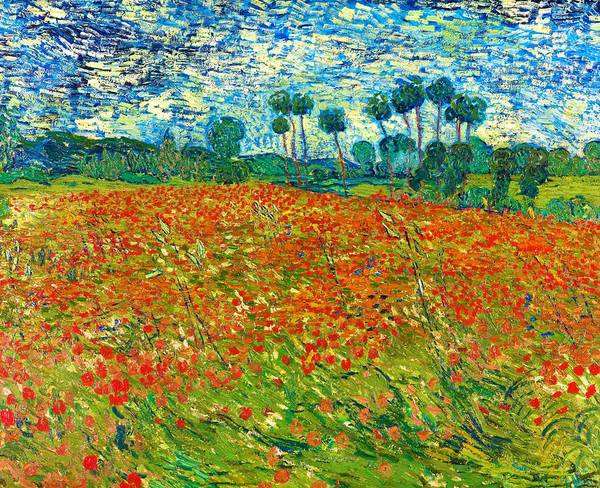 Wall Art - Painting - Poppy Field - Digital Remastered Edition by Vincent van Gogh