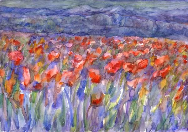 Painting - Poppy Field by Irina Dobrotsvet
