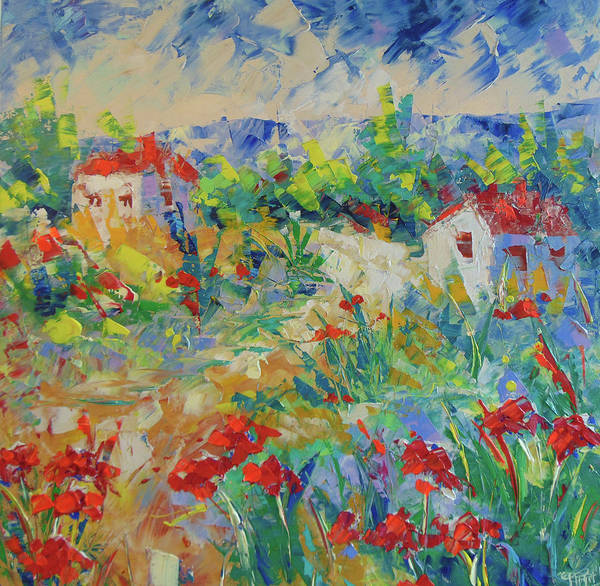 Painting - Poppy Filed Provence by Frederic Payet
