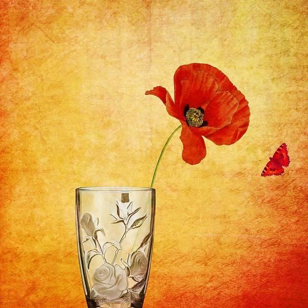 Wall Art - Painting - Poppy Flower by ArtMarketJapan