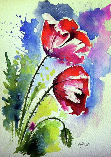 Wall Art - Painting - Poppy Flowers by Kovacs Anna Brigitta