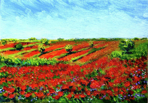 Wall Art - Painting - Poppy Meadow by Asha Sudhaker Shenoy