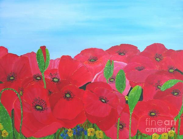 Painting - Poppy Parade by Karen Jane Jones