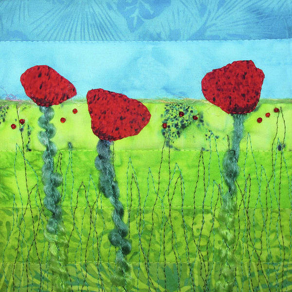 Tapestry - Textile - Poppy Power by Pam Geisel