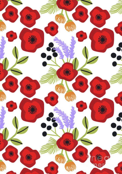 Bright Flowers Mixed Media - Poppy Print by Isobel Barber