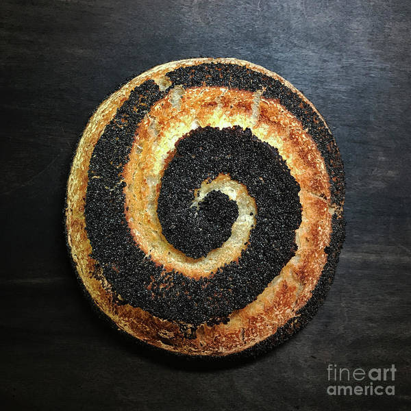 Photograph - Poppy Seed Sourdough Trio - Spiral by Amy E Fraser