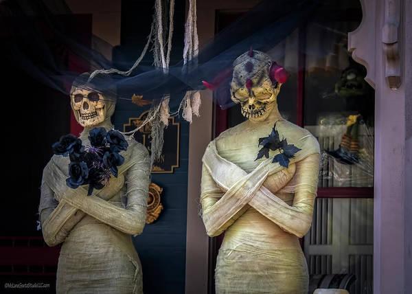 The Undead Photograph - Porch Mummies On Tillson Street by LeeAnn McLaneGoetz McLaneGoetzStudioLLCcom