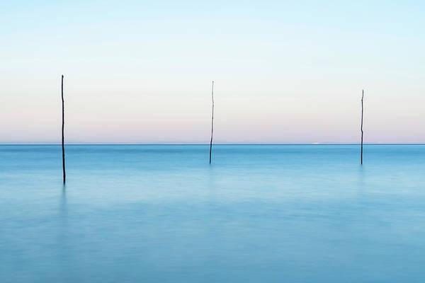 Bristol Channel Photograph - Porlock Weir Poles by David Taylor