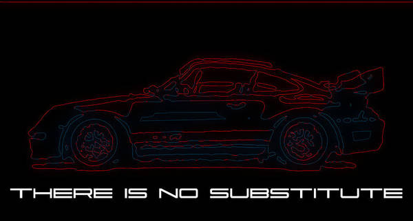 Wall Art - Digital Art - Porsche 400r In Neon by Jeff Walzer