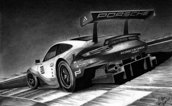 Wall Art - Drawing - Porsche 911 Rsr by Lyle Brown