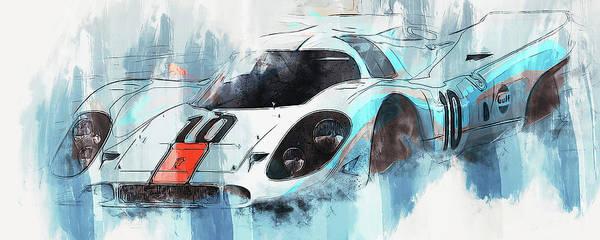 Painting - Porsche 917k - 108 by Andrea Mazzocchetti