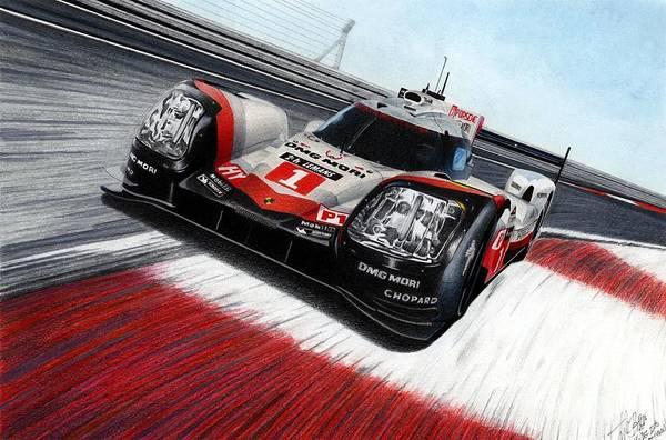 Wall Art - Mixed Media - Porsche 919 by Lyle Brown