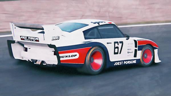 Painting - Porsche 935/78 - 20 by Andrea Mazzocchetti