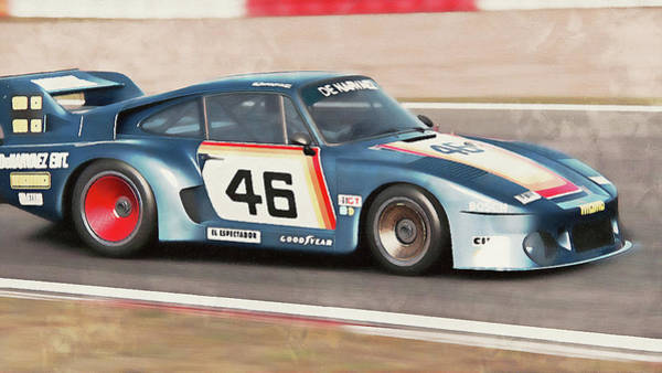 Painting - Porsche 935-80 - 62 by Andrea Mazzocchetti