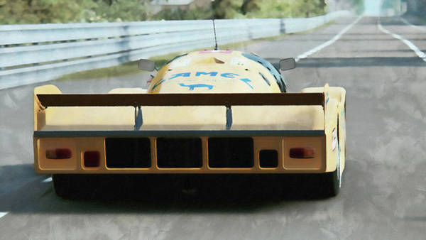 Painting - Porsche 962c Lang Heck Team Brun Camel - 04 by Andrea Mazzocchetti